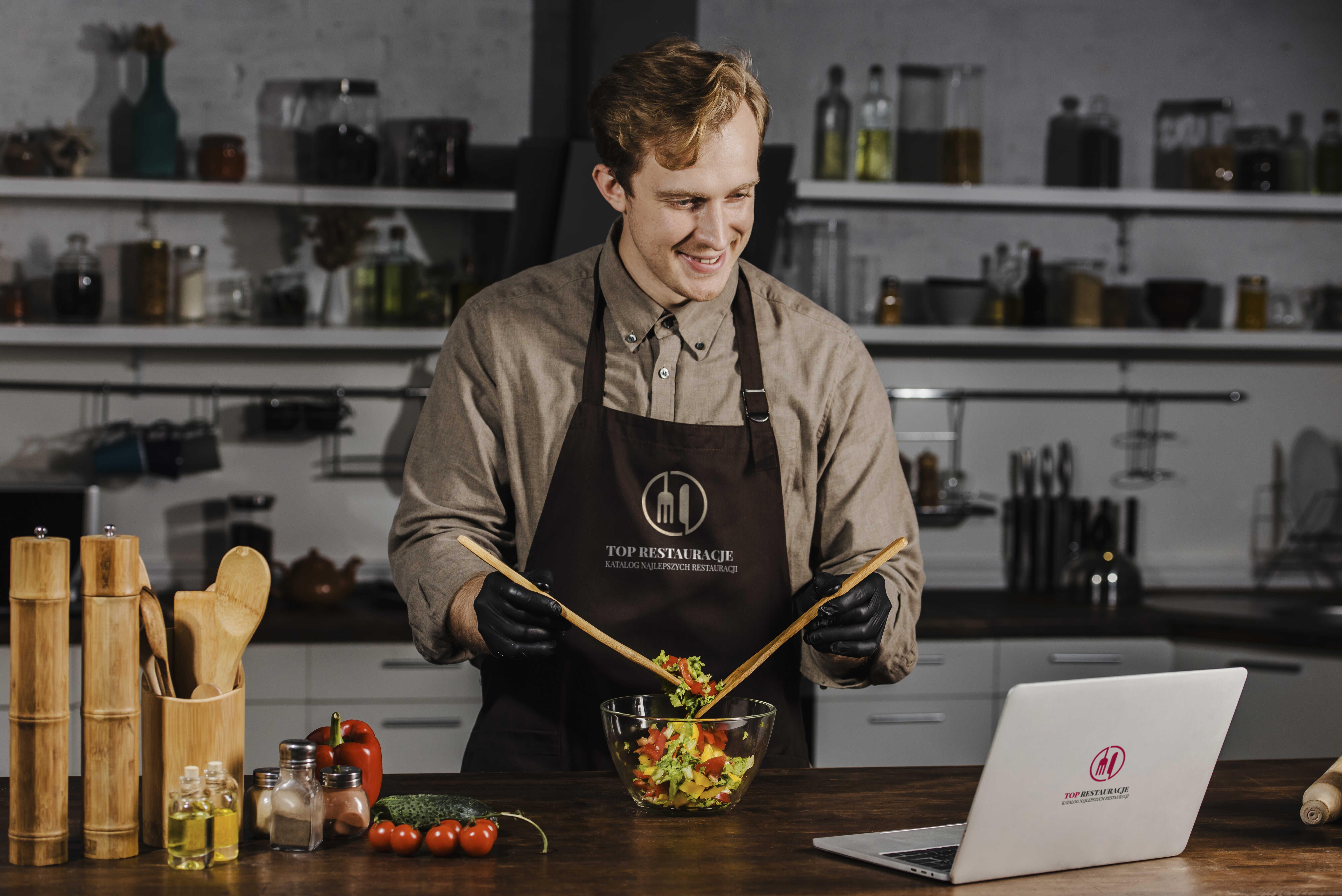 fartuch kucharski z logo