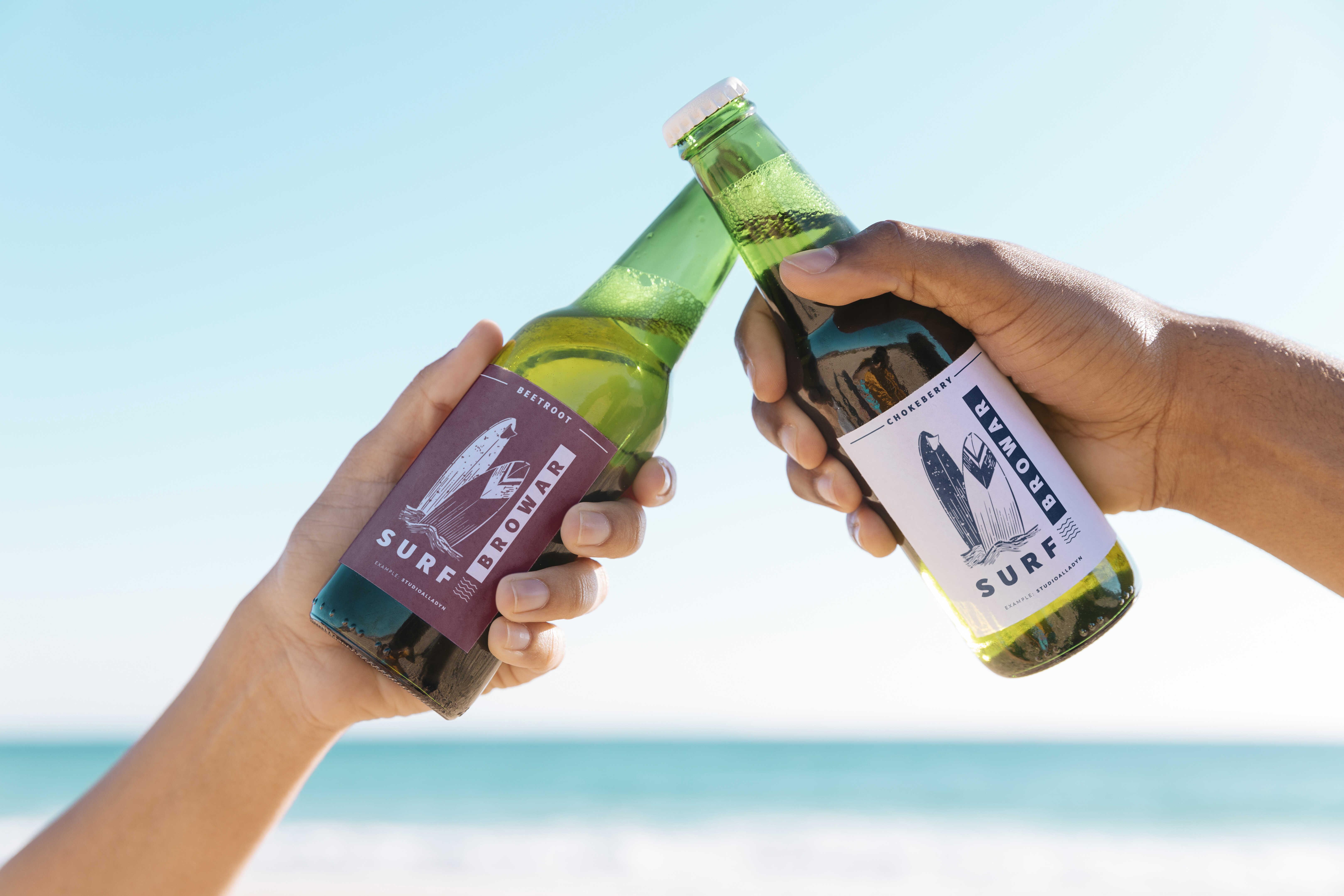 projekt naklejki na piwo